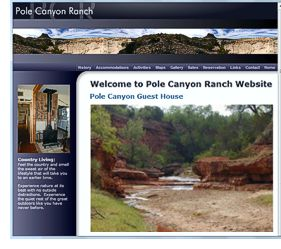 Pole Canyon Ranch website