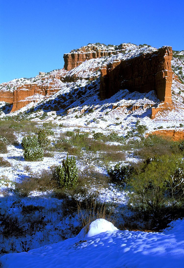 Snow on the Caprock