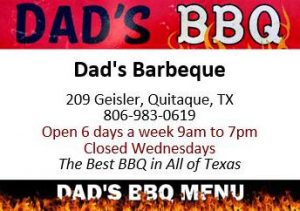 Dad's BBQ website