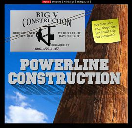 "Big ""V"" Construction Website"