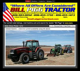 Bill Pigg Tractor Website