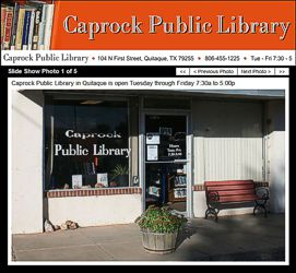 Caprock Public Library Website