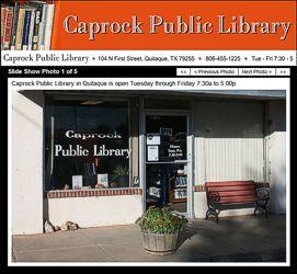 Caprock Public Library Website
