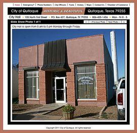 City of Quitaque Website