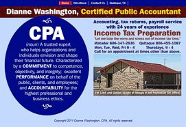 Dianne Washington CPA Website