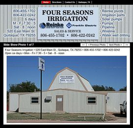 Four Seasons Irrigation Website