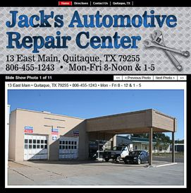 Jack's Automotive Repair Center Website