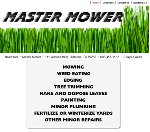 Master Mower Website