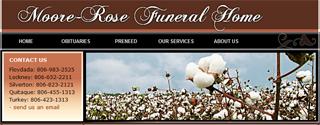 Moore-Rose Funeral Home Website