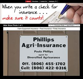 Phillips Agri-Insurance Website