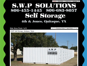 S.W.P Solutions Website - Self Storage