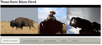 Texas State Bison Herd Website