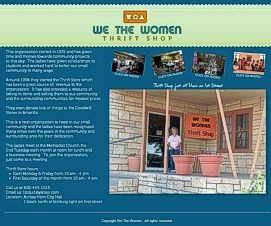 """We the Women"" Thrift Store Website"